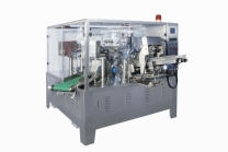 Pouch doypack filling machine including guarding