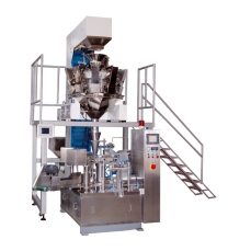 Pouch doypack filling machine with multi head weigher